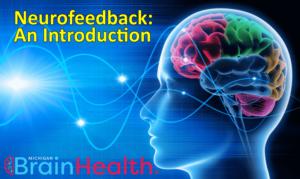 Colorful brain with brainwaves neurofeedback Michigan
