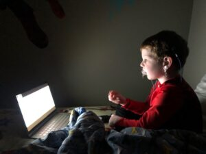 Young Male Performing Home Neurofeedback