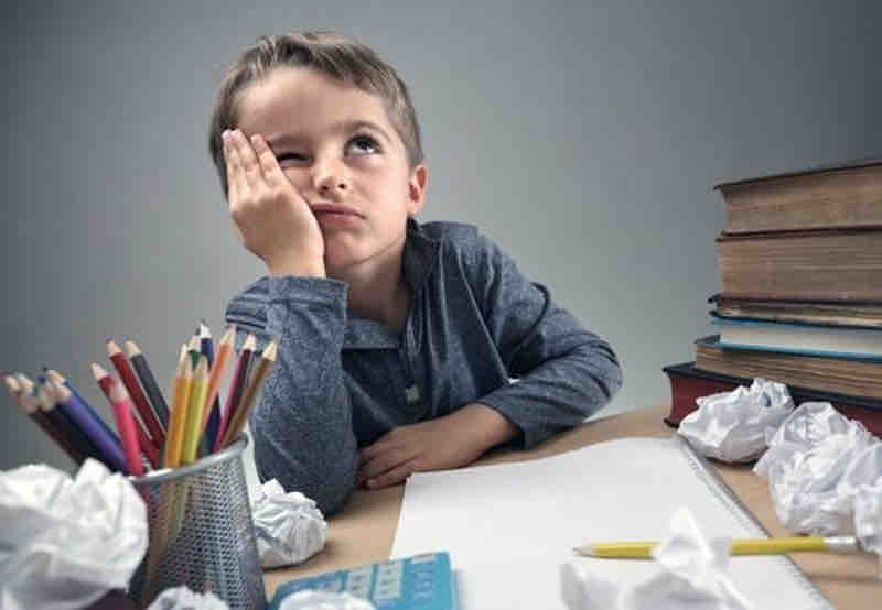 Photo of Young Boy With Concentration Issues