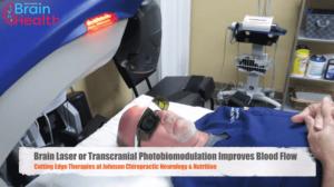 Dr. Johnson receives Transcranial PBM